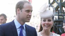 Britains Prince William and Kate, Duchess of Cambridge,arrive for a service to celebrate the 60th anniversary of the coronation of Britains Queen Elizabeth II at Westminster Abbey, London, Tuesday, June  4, 2013. - Provided courtesy of AP Photo/Alastair Grant