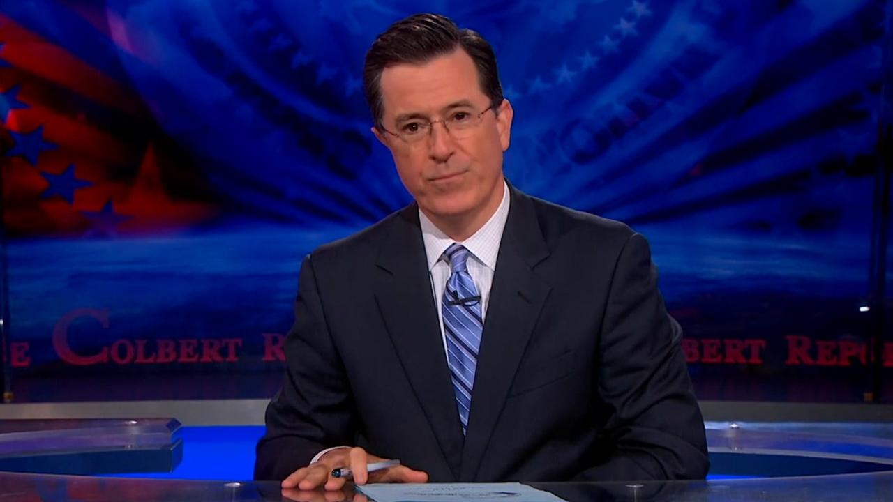 Stephen Colbert appears in an undated photo from his Comedy Central show, The Colbert Report.