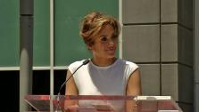 Jennifer Lopez speaks before receiving her star on the Hollywood Walk of Fame on June 20, 2013. - Provided courtesy of OTRC