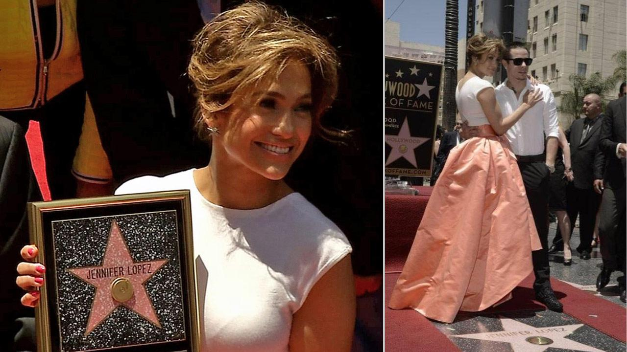 Jennifer Lopez receives her star on the Hollywood Walk of Fame on June 20, 2013.