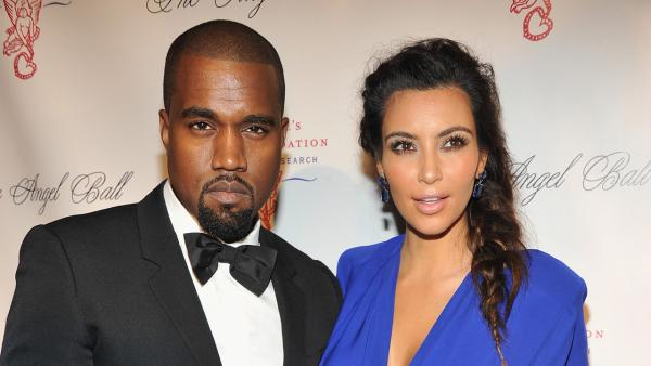 Kanye West and Kim Kardashian attend Denise Rich's annual Angel Ball at Cipriani Wall Street in New York City on Oct. 22, 2012.