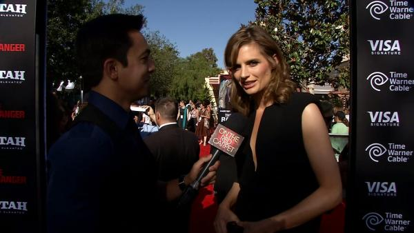 Stana Katic of ABC's 'Castle' talks to OTRC.com at the L.A. premiere of 'The Lone Ranger' in Disneyland's California Adventur