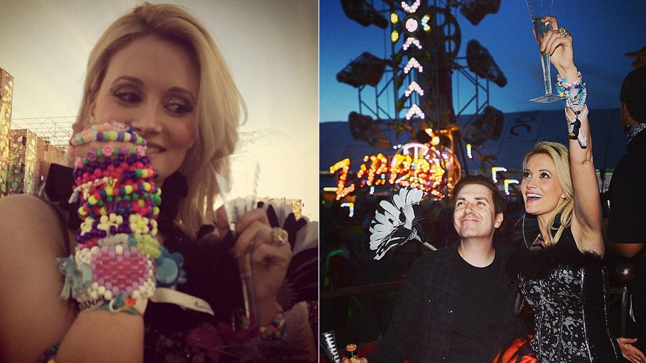 Holly Madison appears in photos from June 2013 on her official Instagram account.