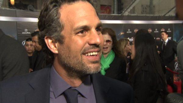 Mark Ruffalo appears at the premiere of 'The Avengers' in Los Angeles on April 11, 2012.