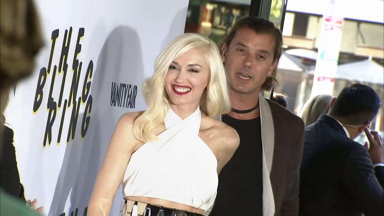 Gwen Stefani and husband Gavin Rossdale appear at the premiere of The Bling Ring in Los Angeles on June 4, 2013.