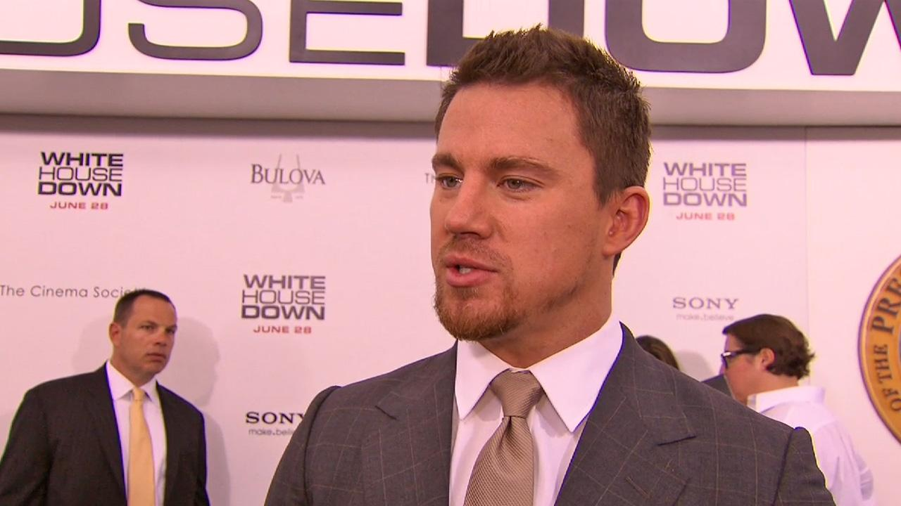 Channing Tatum talked about his 2013 action film, White House Down, which also stars Jamie Foxx as the president.