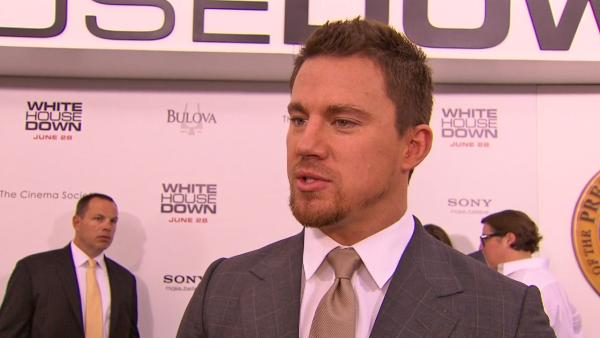 Channing Tatum talked about his 2013 action film, White House Down, which also stars Jamie Foxx as the president. - Provided courtesy of Columbia Pictures