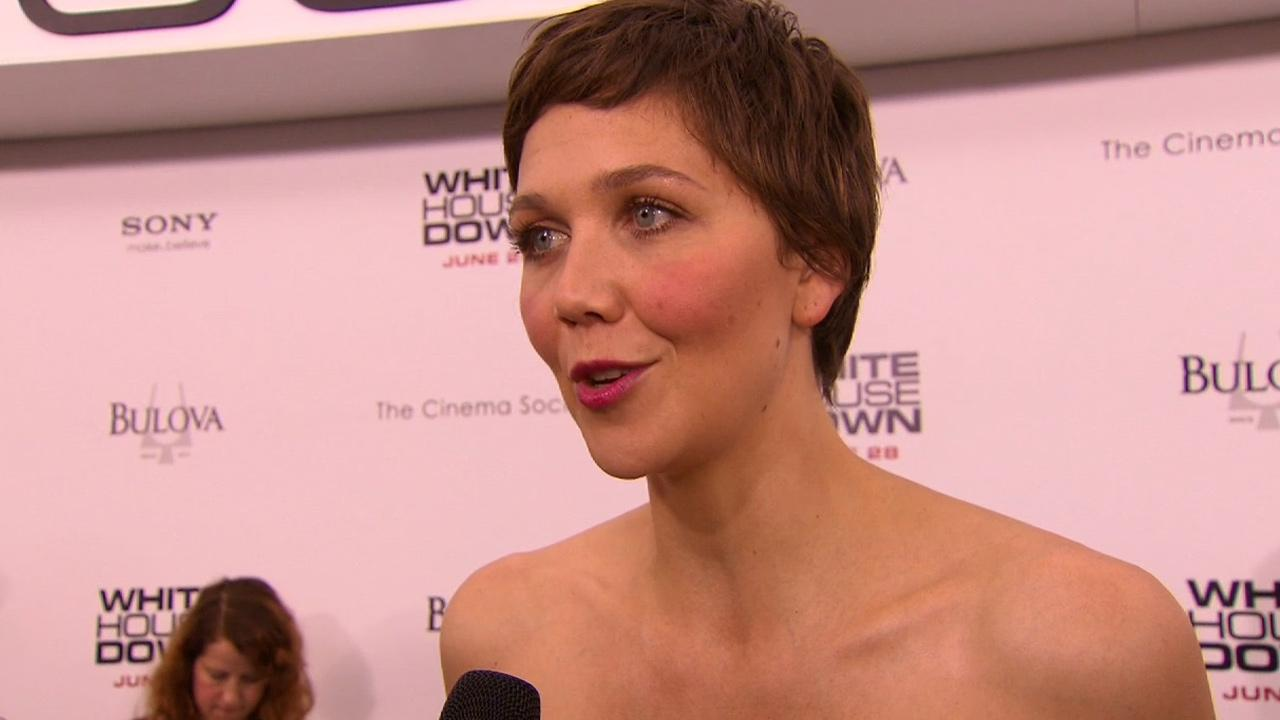 Maggie Gyllenhaal talked about her 2013 action film, White House Down, which also stars Channing Tatum. Check it out!