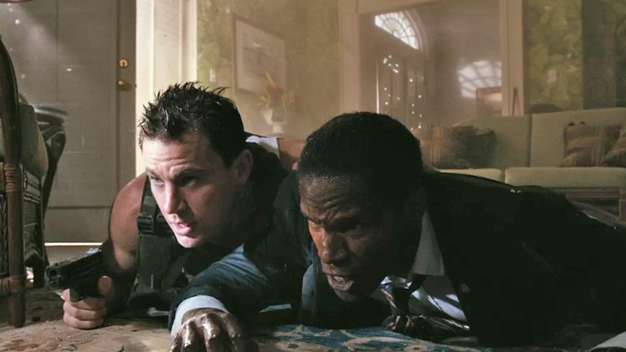 Channing Tatum appears in a scene from his 2013 action film, White House Down, which also stars Jamie Foxx and Maggie Gyllenhaal. <span class=meta>(Columbia Pictures)</span>