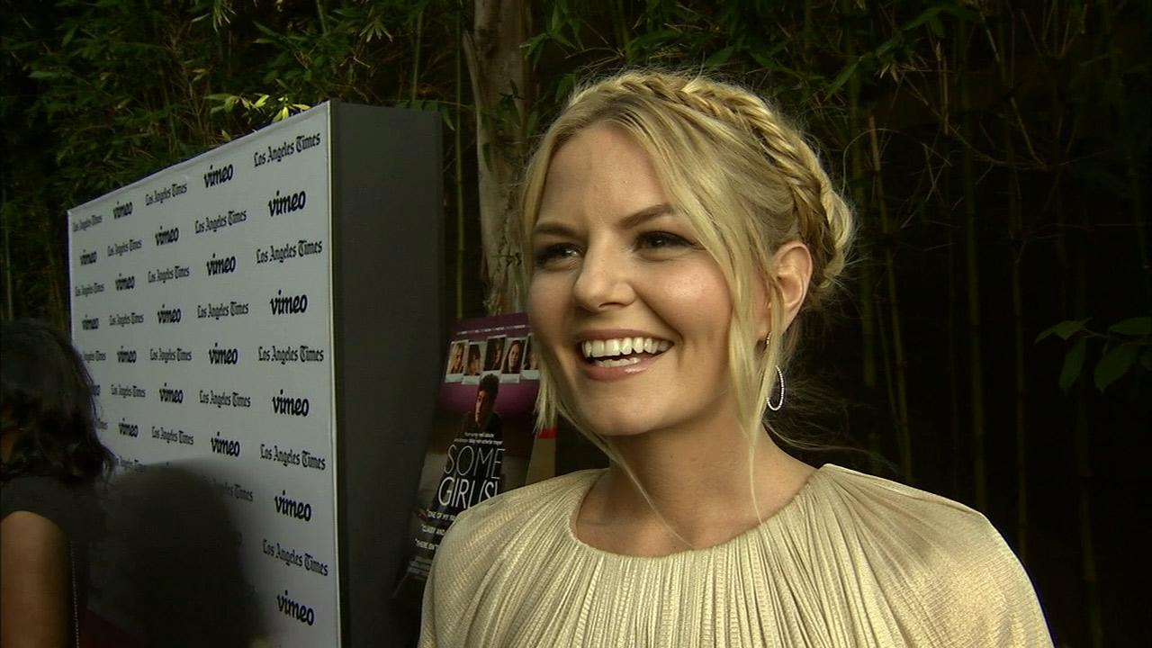 Jennifer Morrison, who plays Emma Swan on ABCs Once Upon A Time, talks to OTRC.com at the premiere of the film Some Girl(s) in Los Angeles on June 26, 2013.