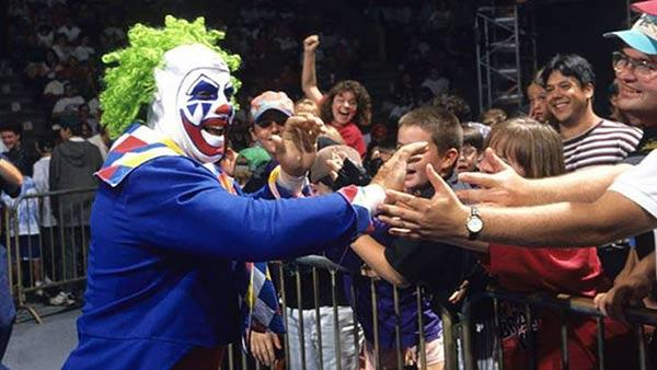 Doink the Clown, played by Matt Osborne, appears in an undated photo posted by the WWE on the group's Facebook page on June 28, 2013.