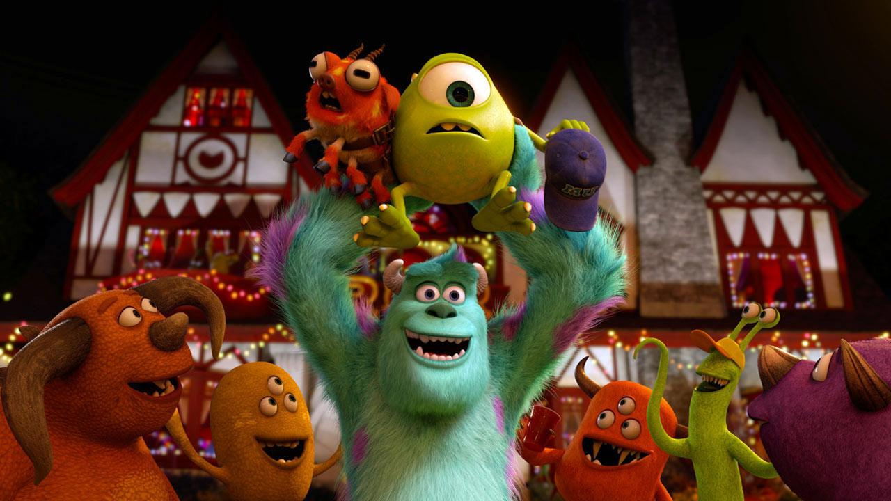 Characters from the 2013 film Monsters University appear in a still from the movie.