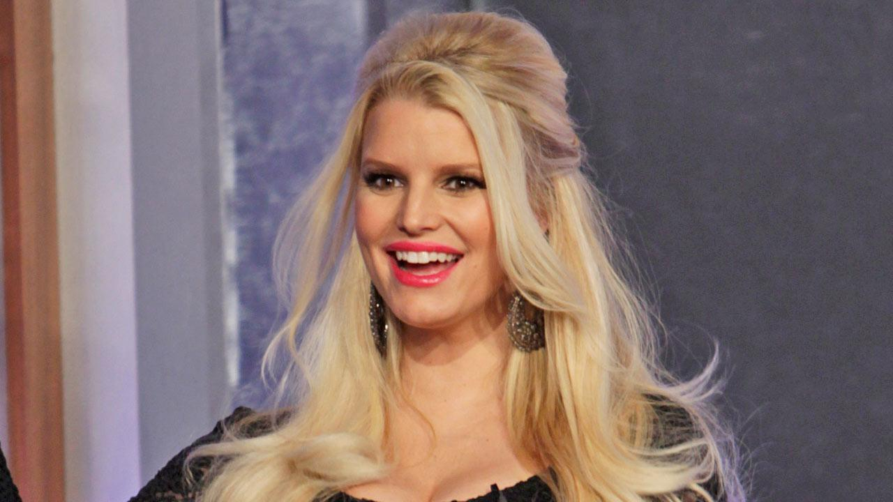 Jessica Simpson appears photo from her March 6, 2013, appearance on Jimmy Kimmel Live.