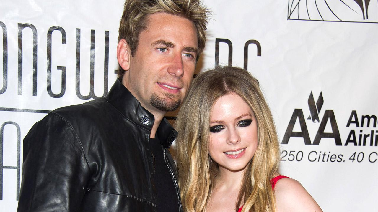 Chad Kroeger and Avril Lavigne attend the Songwriters Hall of Fame 44th annual induction and awards gala in New York on June 13, 2013.