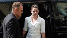 Kristen Stewart leaves after attending Chanels Haute Couture Fall-Winter 2013-2014 collection, presented on Tuesday, July 2, 2013 in Paris. - Provided courtesy of AP Photo / Thibault Camus