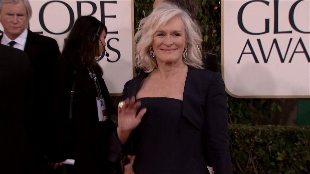 Glenn Close appears at the 2013 Golden Globe Awards in Beverly Hills, California on Jan. 13, 2013.