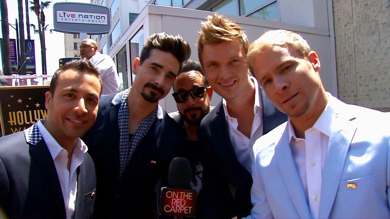 Backstreet Boys Howie Dorough, Kevin Richardson, A.J. McLean, Nick Carter and Brian Littrell talk to OTRC.com after receiving a star on the Hollywood Walk of Fame on April 22, 2013.