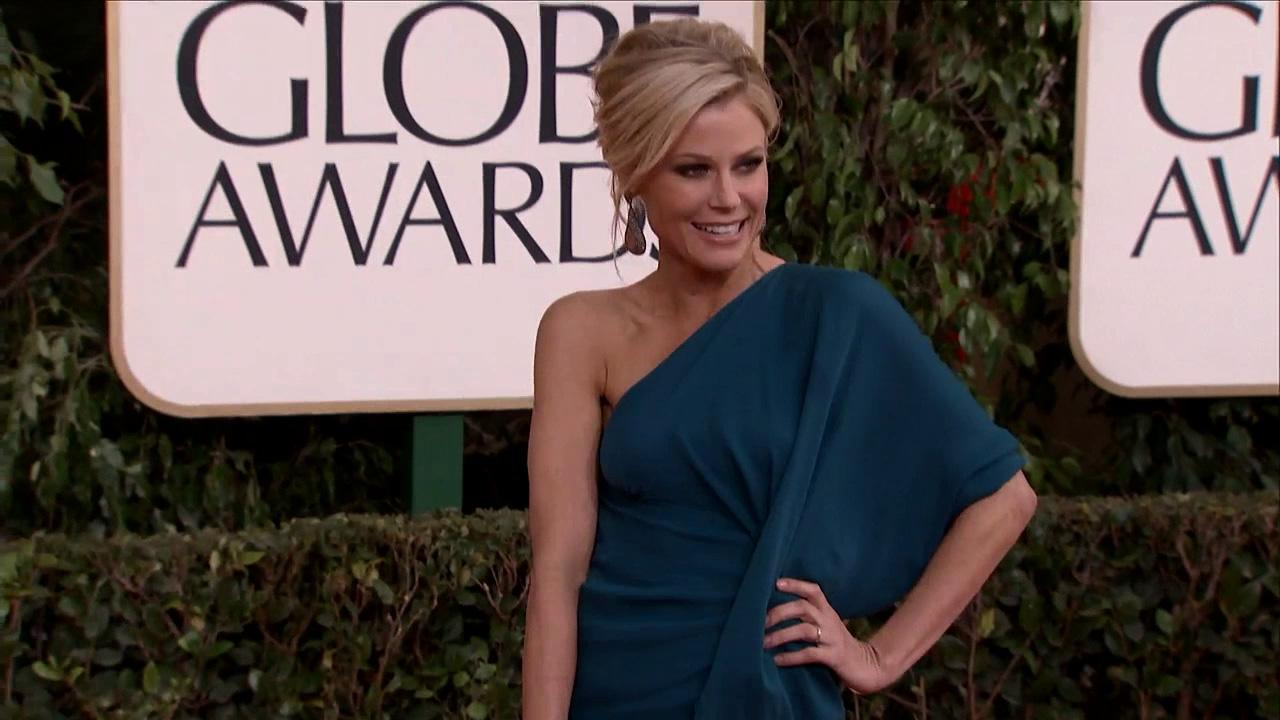 Julie Bowen (ABCs Modern Family) appears at the 2013 Golden Globe Awards in Beverly Hills, California on Jan. 13, 2013.