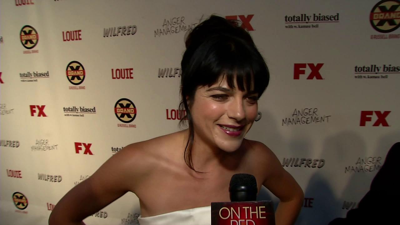 Selma Blair talks to OnTheRedCarpet.com at the premiere of her new FX show, BrandX, in Los Angeles on June 26, 2012.