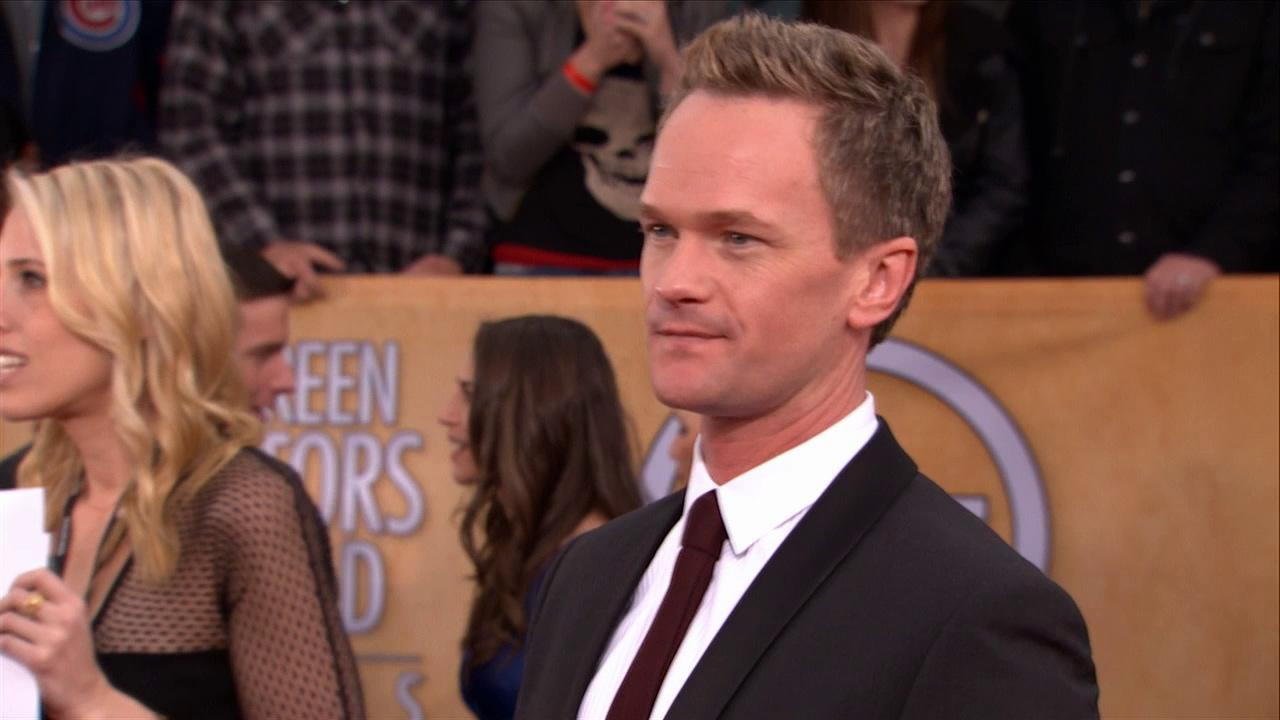 Neil Patrick Harris poses on the red carpet at the 2013 SAG Awards in Los Angeles on Jan. 27, 2013.