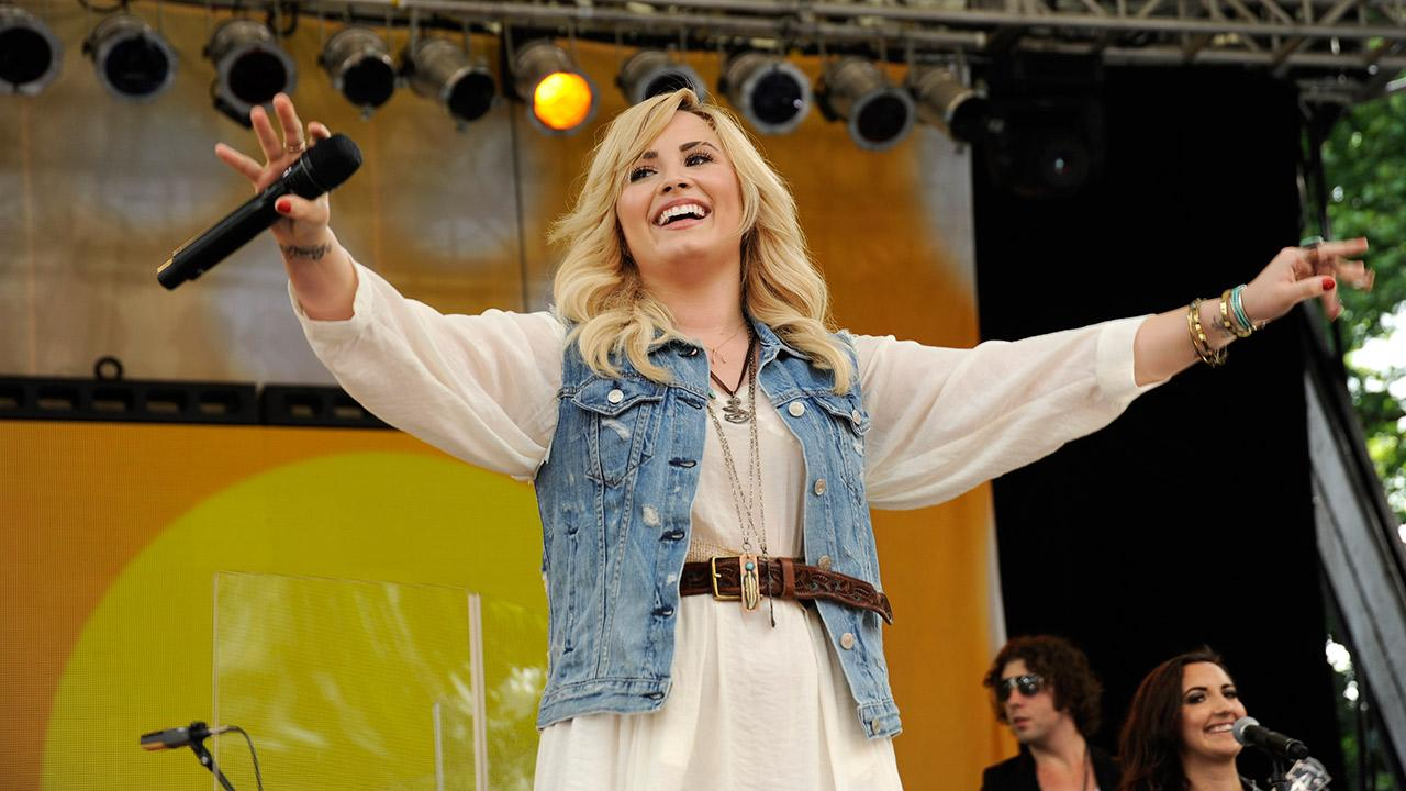 Demi Lovato performs live from New York Citys Central Park on ABCs Good Morning America (GMA) on June 28, 2013.ABC / Donna Svennevik
