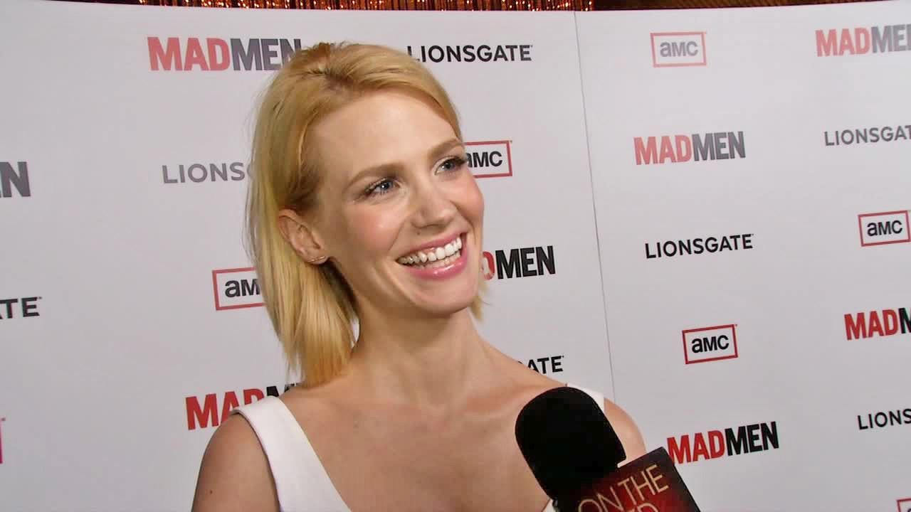 January Jones talks to OTRC.com at the premiere of Mad Men season 6 in Los Angeles on March 20, 2013.