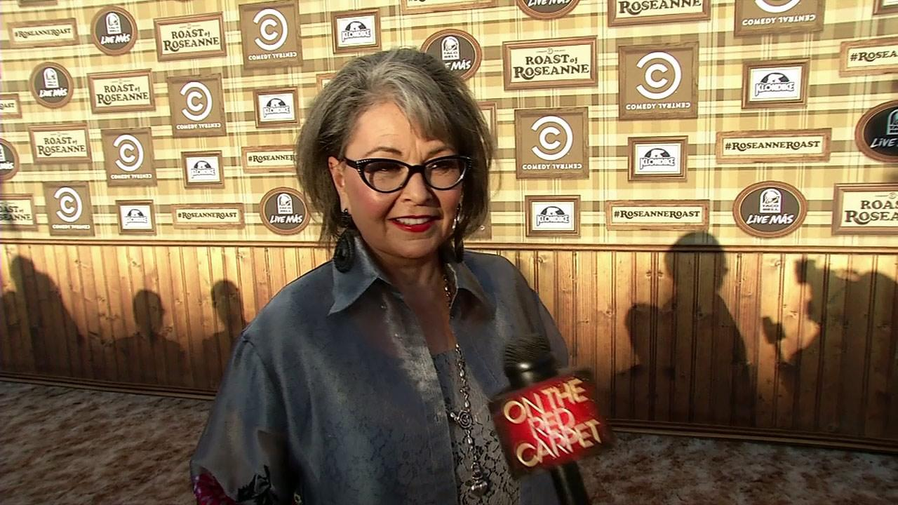 Roseanne Barr talks to OnTheRedCarpet.com before a taping of The Comedy Central Roast of Roseanne on Aug. 4, 2012.