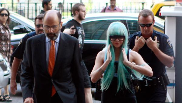 Amanda Bynes appears before a judge on July 9, 2013. She was arrested in Manhattan in May. Police say the actress threw a bong out of a window. - Provided courtesy of OTRC