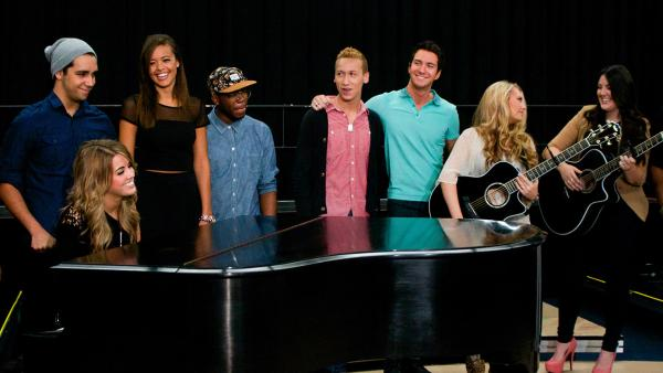 The 11 'American Idol' season 12 singers appear at a rehearsal for the 'American I