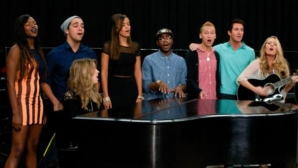 The 11 'American Idol' season 12 singers appear at a rehearsal for the 'American Idol LIVE!'