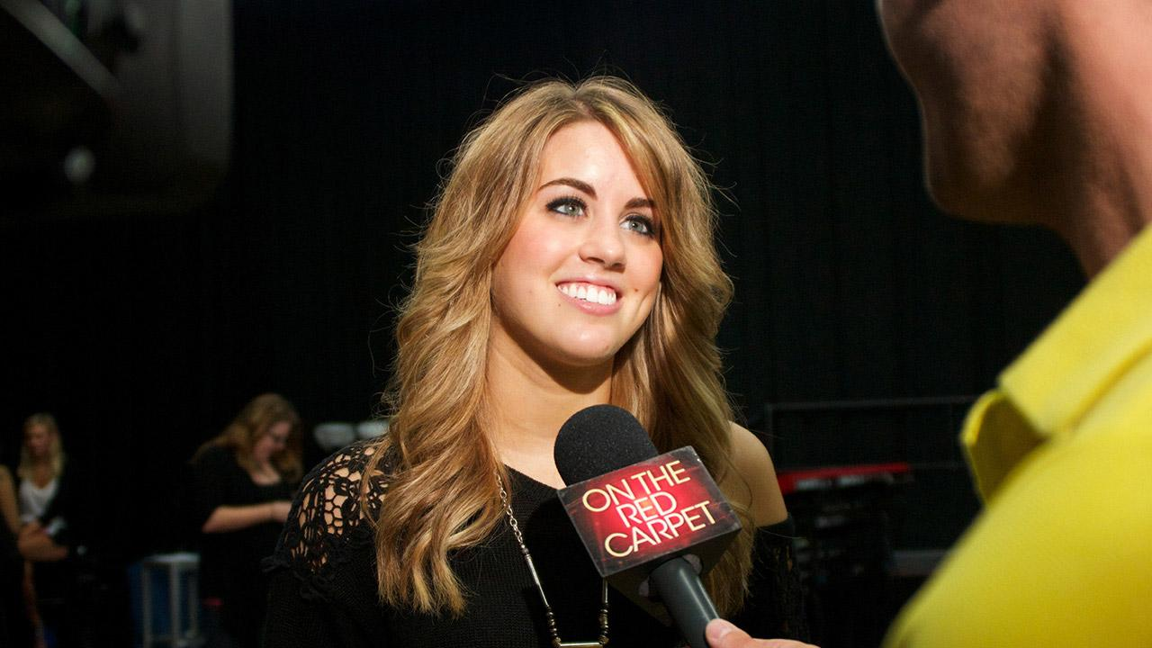 Amber Holcomb talks to OTRC.com at a rehearsal for the American Idol LIVE! 2013 summer tour in Burbank, California on July 9, 2013. <span class=meta>(Aaron Frank &#47; OTRC)</span>
