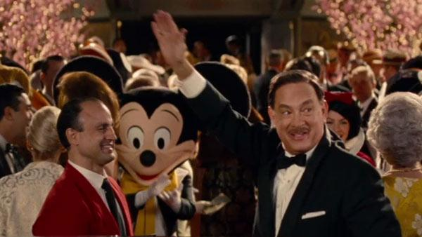 Tom Hanks stars as Walt Disney in this scene from the 2013 film Saving Mr. Banks. The movie also stars Emma Thompson as Mary Poppins author P. L. Travers.