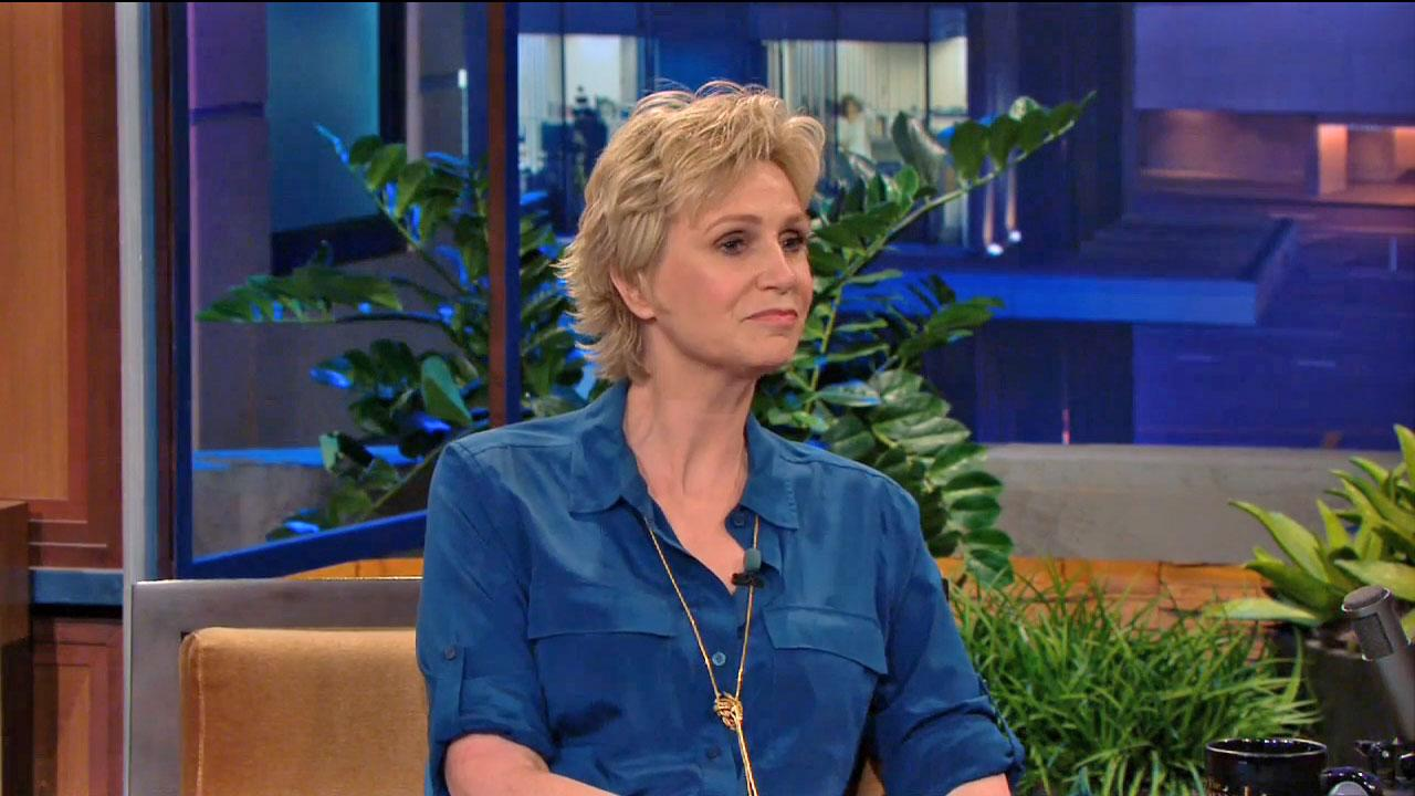 Jane Lynch appears on The Tonight Show on July 17, 2013.