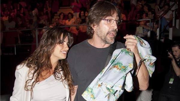 Javier Bardem and Penelope Cruz appear at The Asier Etxendia Concert on July 20, 2013. - Provided courtesy of Nacho Lopez/startraksphoto.com