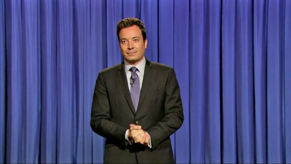 Jimmy Fallon appears during the opening monologue for Late Night with Jimmy Fallon on July 24, 2013. - Provided courtesy of NBC