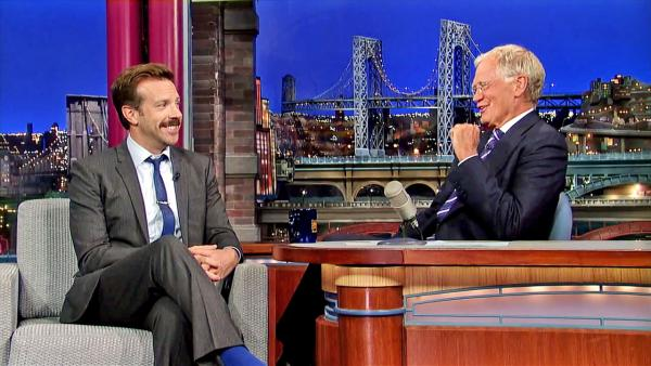 Jason Sudeikis appears on Late Show with David Letterman on July 24, 2013. - Provided courtesy of CBS/WorldwidePants