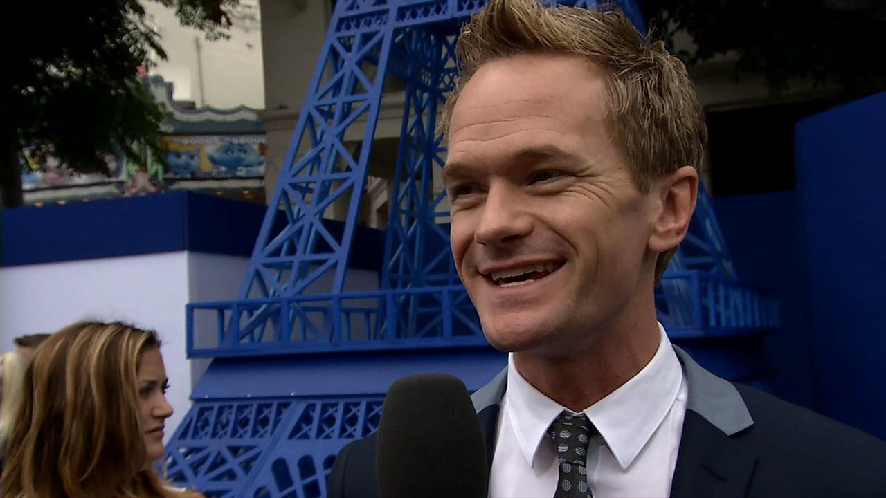 Neil Patrick Harris talks to OTRC.com at the premiere of The Smurfs 2 at the Regency Village Theatre in Westwood, near Los Angeles, on July 28, 2013.