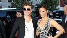 Paula Patton and husband Robin Thicke attend the premiere of the film 2 Guns at the SVA Theatre in New York on July 29, 2013. - Provided courtesy of Marion Curtis /  Startraksphoto.com