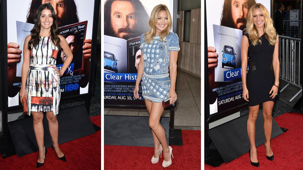 Shiri Appleby, Kate Hudson and Kristin Cavallari attends the premiere of the HBO film Clear History at the Cinerama Dome in Hollywood, California on July 31, 2013.