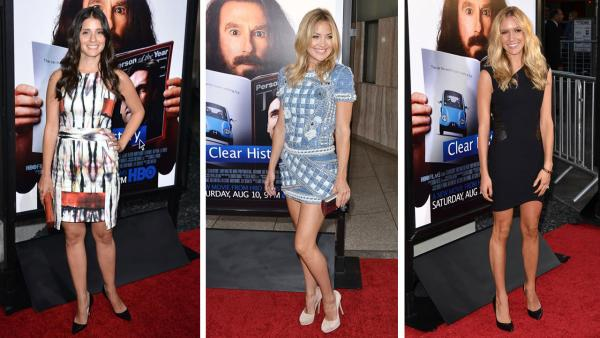 Shiri Appleby, Kate Hudson and Kristin Cavallari attends the premiere of the HBO film Clear History at the Cinerama Dome in Hollywood, California on July 31, 2013. - Provided courtesy of OTRC / Tony DiMaio / startraksphoto.com