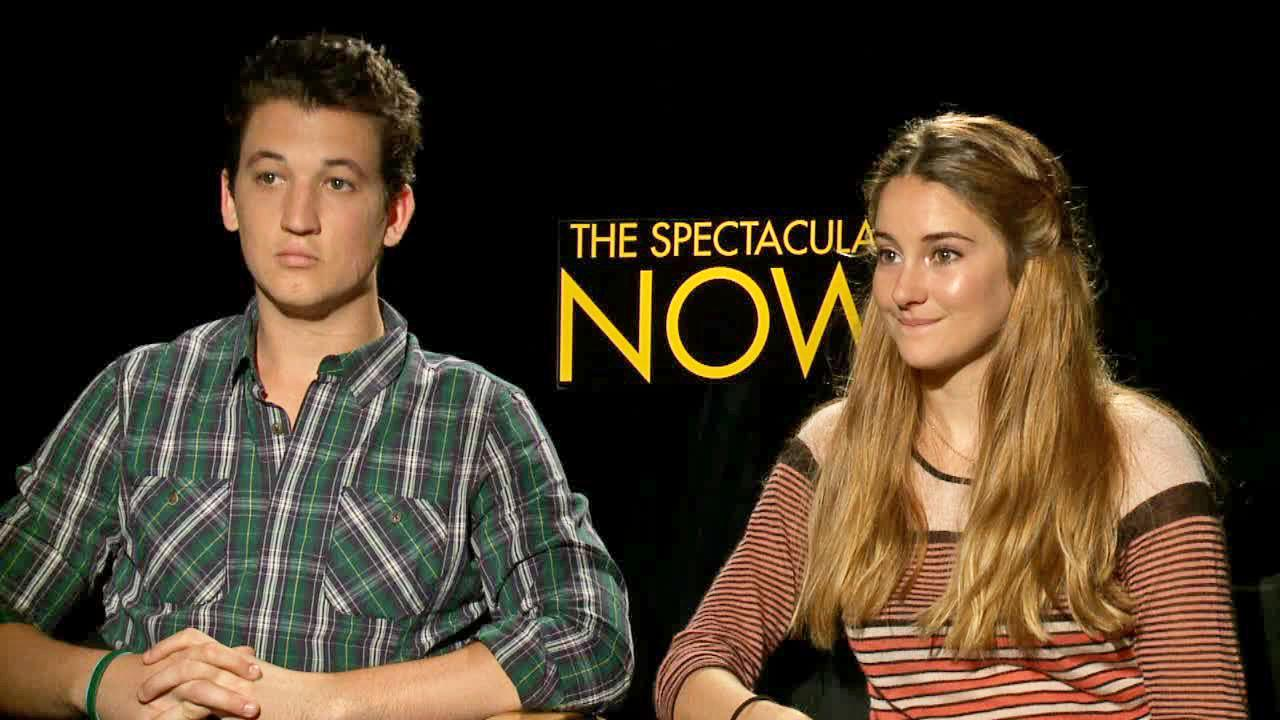 shailene woodley and miles teller talk spectacular now  miles teller and shailene woodley appear in an interview otrc com on 29