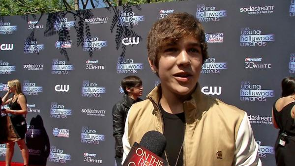 Austin Mahone talks to OTRC.com on the red carpet at the 2013 Young Hollywood Awards in Los Angeles on Aug. 1, 2013. He received the Breakout Artist Award. - Provided courtesy of OTRC