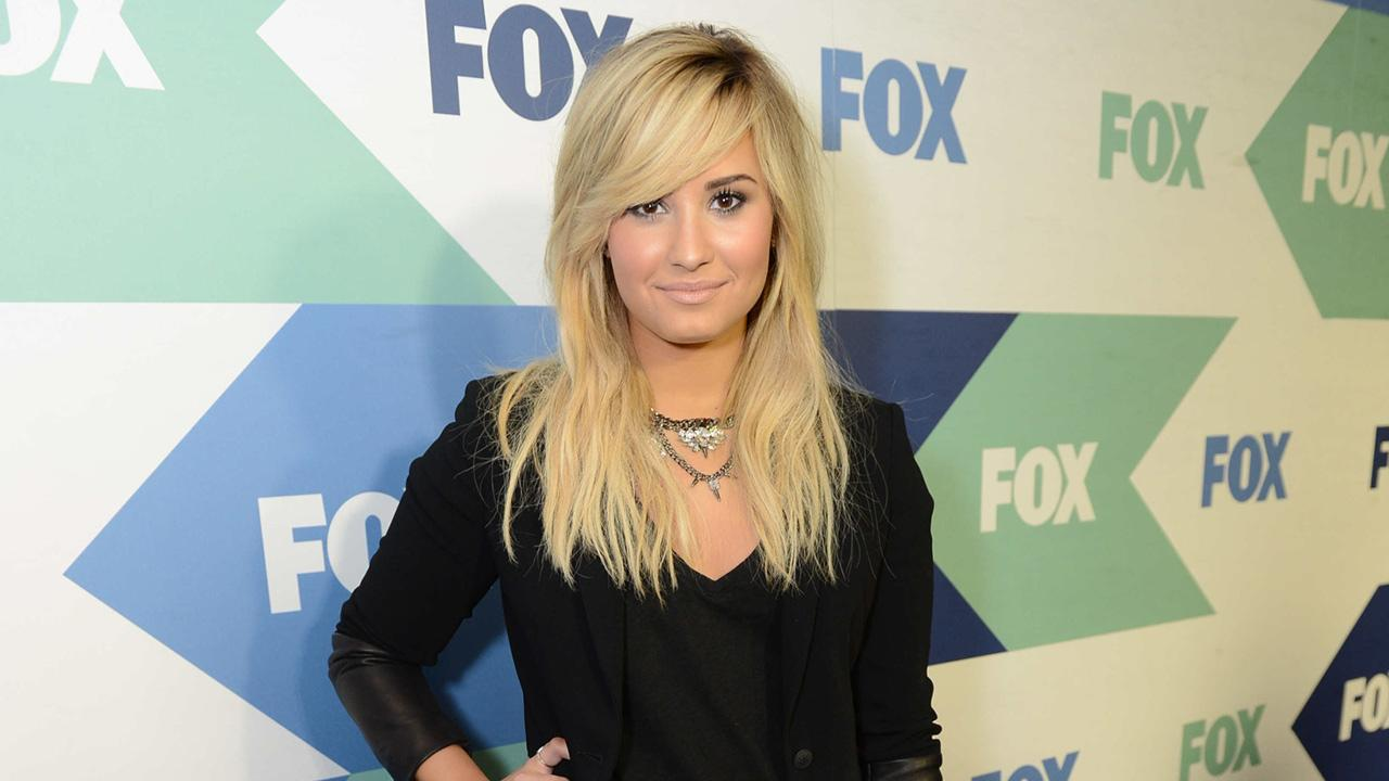The X Factor judge and pop star Demi Lovato attends the FOX Summer TCA All-Star Party in West Hollywood, California on Aug. 1, 2013.