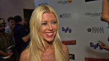 Tara Reid talks to OTRC.com at the premiere of Sharknado on Aug. 2, 2013. The film aired on SyFy in July and was widely praised -- and mocked -- on Twitter. It was screened in select theaters on the night of the premiere. - Provided courtesy of OTRC
