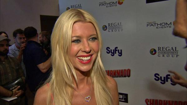 Tara Reid talks to OTRC.com at the premiere of 'Sharknado' on Aug. 2, 2013. The film aired on SyFy in July and was widely praised -- and mocked -- on Twitter. It was screened in select theaters on the night of the premiere.
