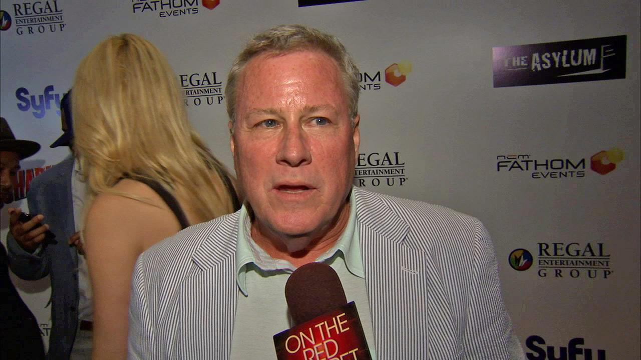 Cast member John Heard (the dad from Home Alone) talks to OTRC.com at the premiere of Sharknado on Aug. 2, 2013. The film aired on SyFy in July and was widely praised -- and mocked -- on Twitter.