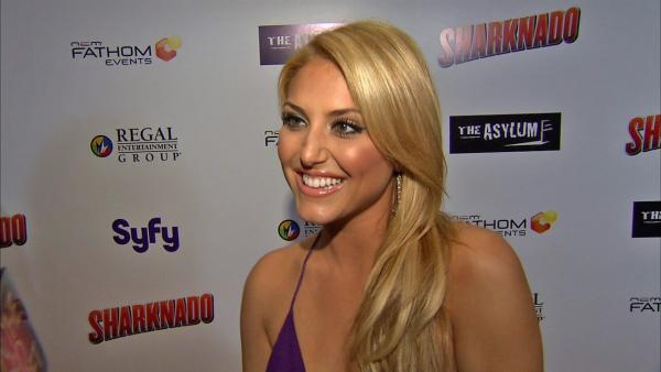 Cassie Scerbo talks to OTRC.com at the premiere of 'Sharknado' on Aug. 2, 2013. The film aired on SyFy in July and was widely praised -- and mocked -- on Twitter.