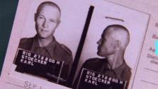Chelsea Handlers grandfather, Karl Stoecker, is seen in a mug shot taken after he was imprisoned in a POW camp in Iowa in 1944. The comedienne was featured on an episode of the TLC show Who Do You Think You Are? on Aug. 6, 2013. - Provided courtesy of TLC