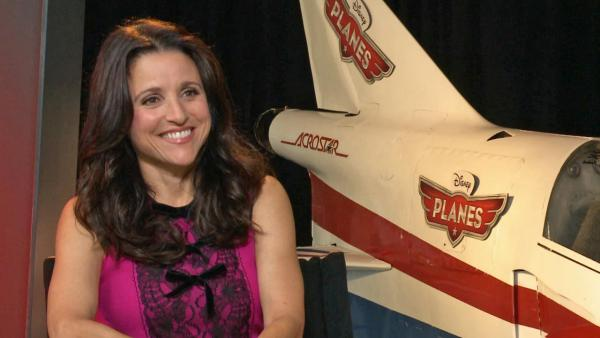 Actress Julia Louis-Dreyfus spoke to OTRC.com about her upcoming voice-over role as Rochelle in the Disney anitmated film Planes, in theaters Aug. 9, 2013.
