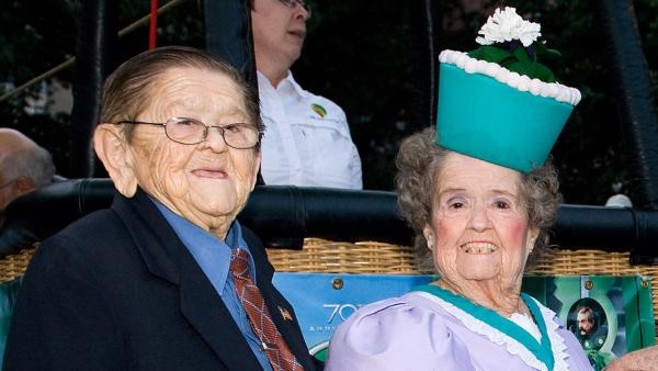 Original Munchkins Karl Slover and Margaret Pellegrini attend the 'Wizard of Oz' 70th Anniversary Emerald Gala at Tavern on the Green in New York, Thursday, Sept. 24, 2009.